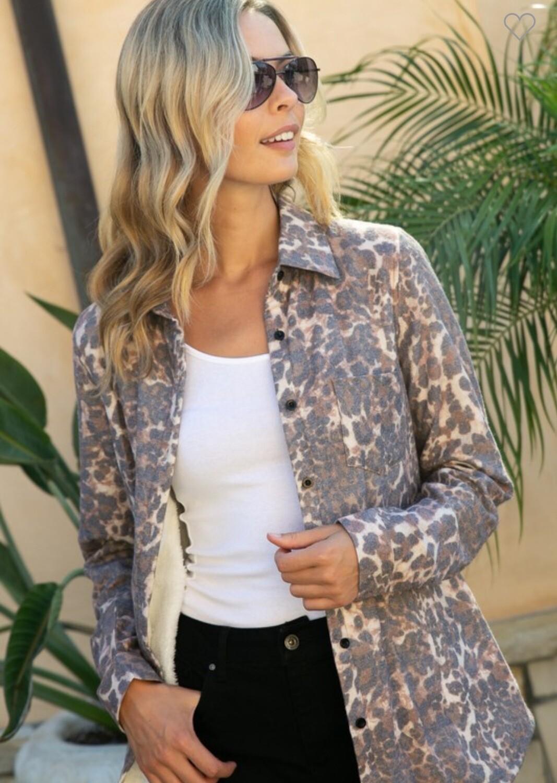 Brown Leopard Fleece