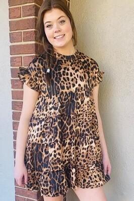 Leopard Baby Doll Dress