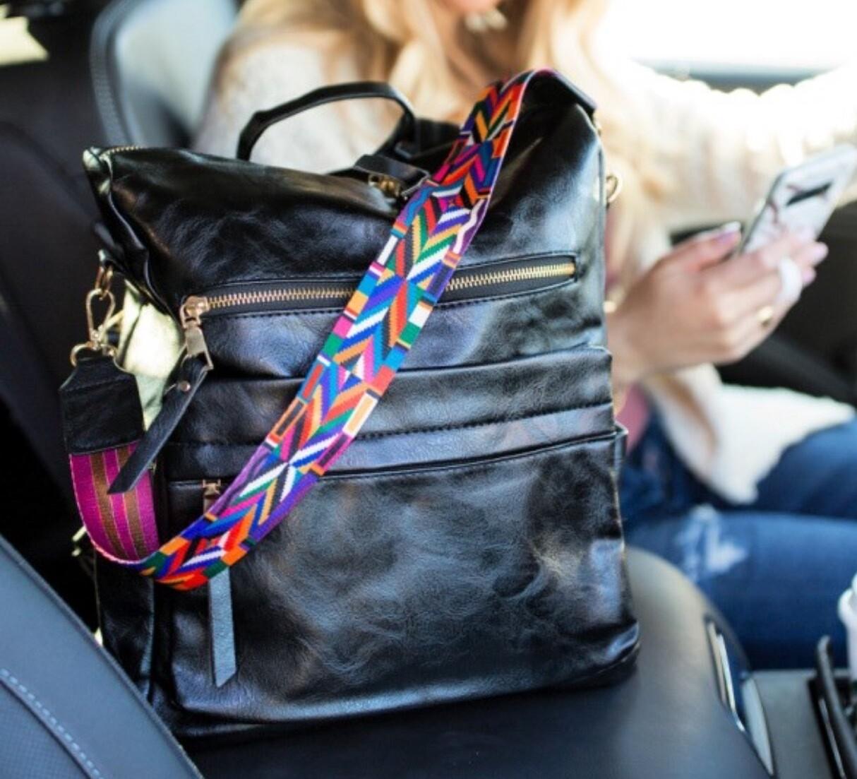 Backpack\Shoulder Bag - Black