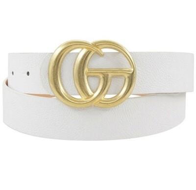 """Fashion Belt - White 1.5"""" W 43"""" L"""