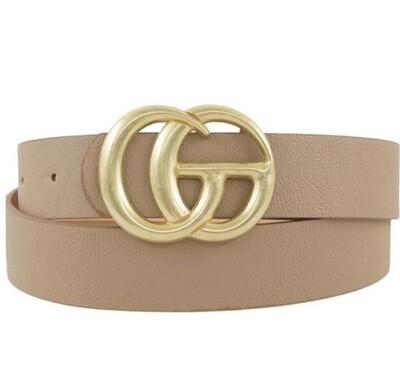 "Fashion Belt - Taupe 1.5"" W 43"" L"