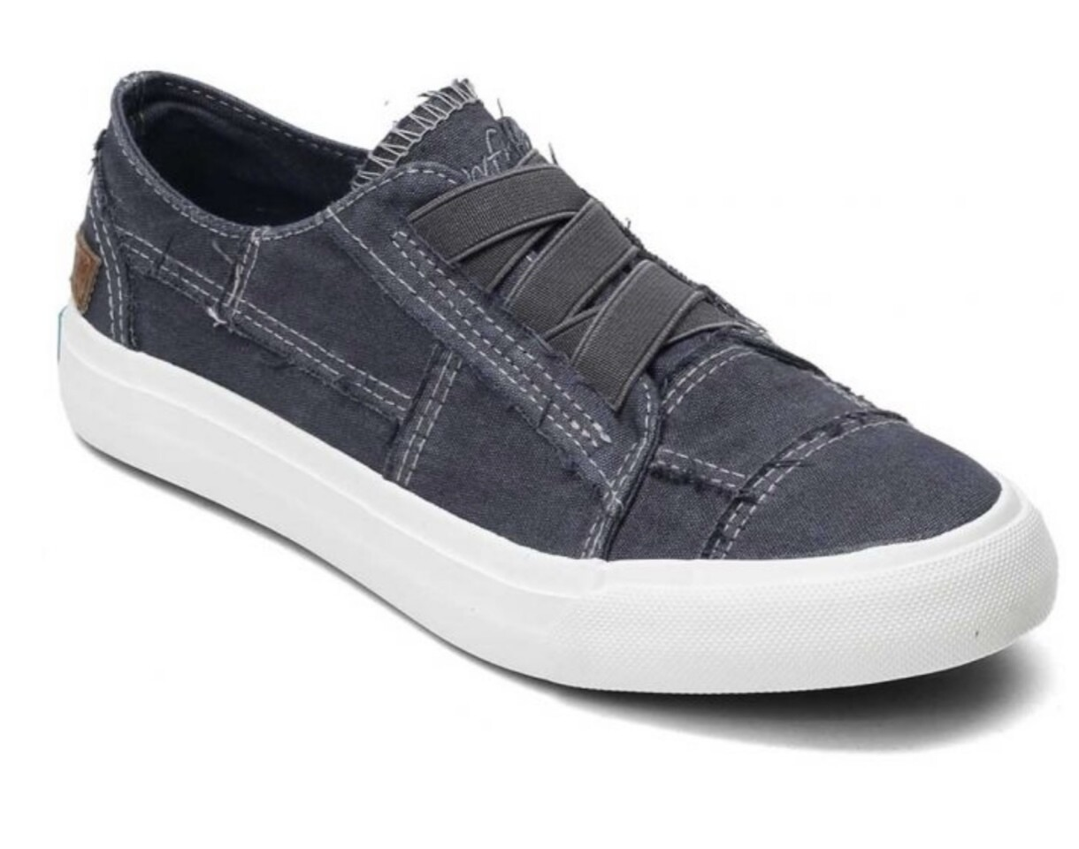 Blowfish Marley Black Color Wash Canvas Sneaker