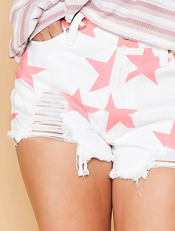 PLC Pink Star Print Short