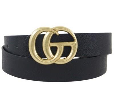 "Fashion Belt Black 1.5"" W, 42"" L"