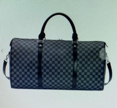 Checker Weekender Bag (Srap Included) Lined - Black