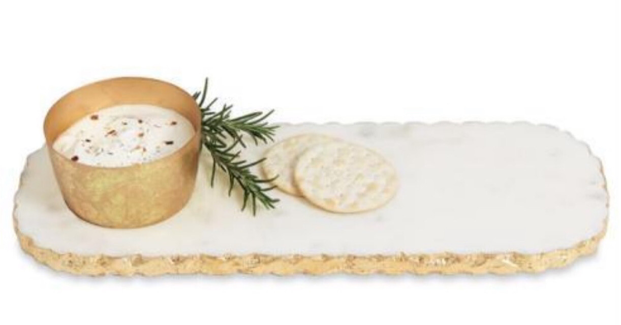 MudPie Chipped Marble Dip & Tray