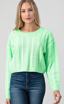 Cropped Sweater \ Bright Green