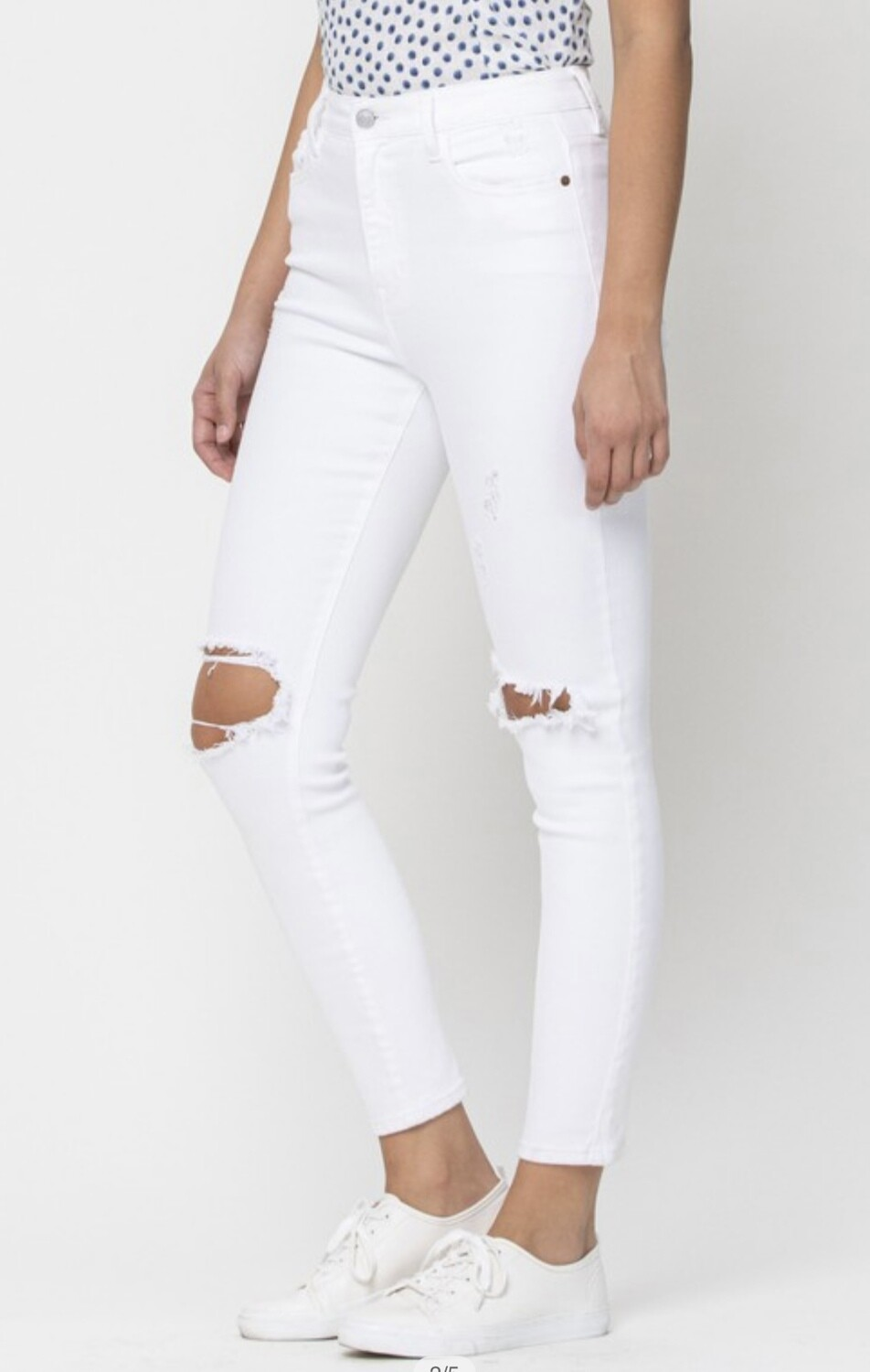 Cello High Rise Ankle Skinny White