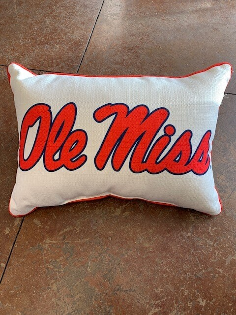 Ole Miss Script Red Piping