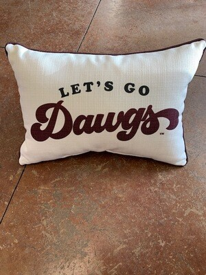 Lets Go Dawgs - Maroon Piping