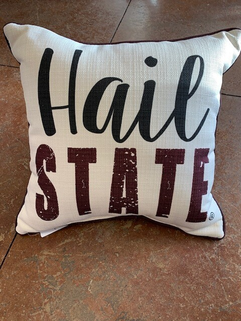 Hail State Black & Maroon with Maroon Piping