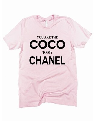 Coco To My Chanel Tee Pink