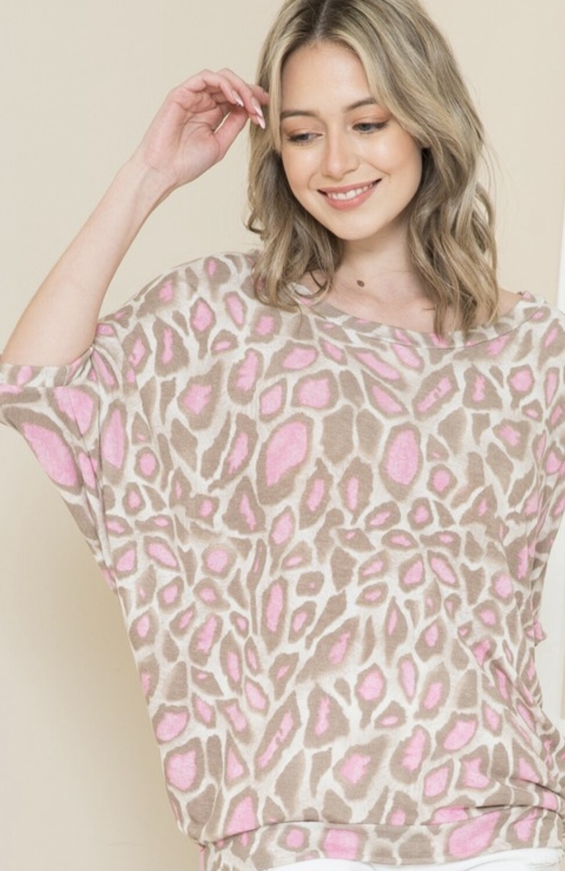 Leopard Dolman Sleeve Top