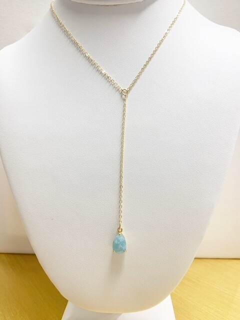 """AA Alice Necklace with Turquoise Drop 16"""" with 2"""" Extender"""