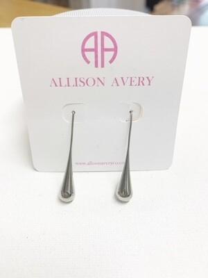 AA Silver Droplet Earrings