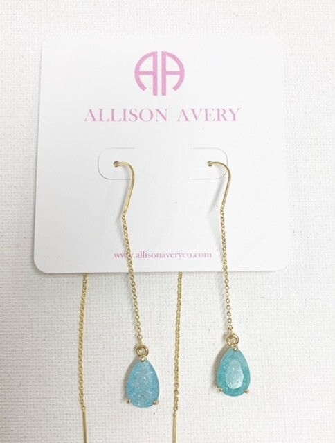 AA Turquoise Threader Earrings