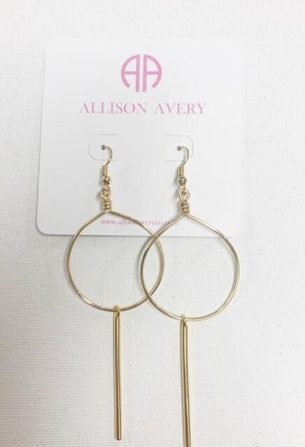 AA Bar Hoop Earrings