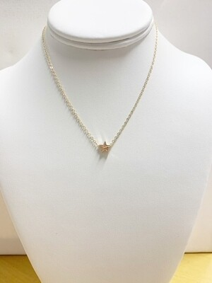 """AA Tiny Star Necklace 14"""" with 2"""" Extender"""