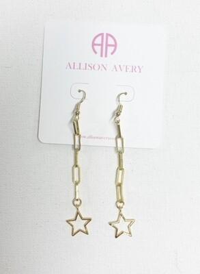 AA Tiffany Star Drop Earrings