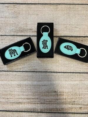 Mascot Leather Keychain