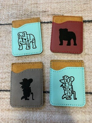 Leather Cell Phone Wallet