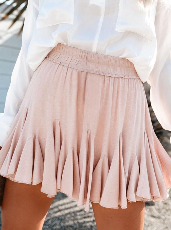 Mini Pleated Skirt - Pink
