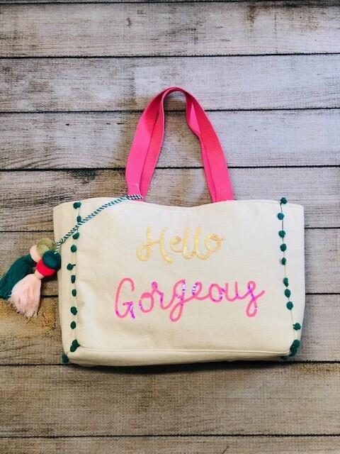 Hello Gorgeous Canvas Bag