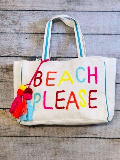 Beach Please Canvas Bag