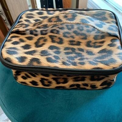 Brown Leopard Makeup Case
