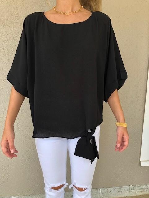 Kimono Sleeve Top - Black