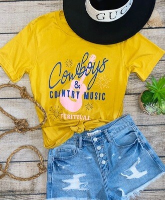 Cowboys Tee - Mustard