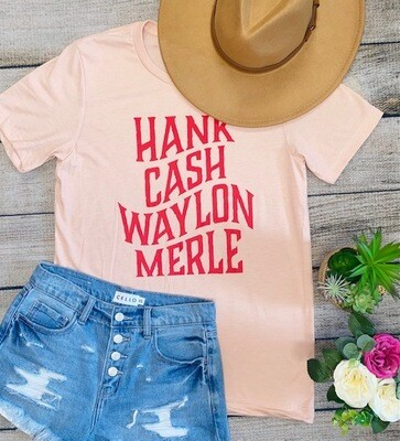 Coral Country Music Tee