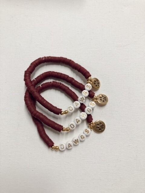 Maroon Dawgs Stretch Bracelet