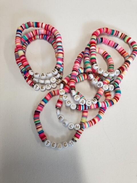 Multicolor Teach Stretch Bracelet