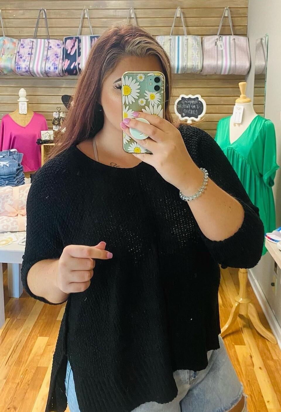 Black L/W Sweater