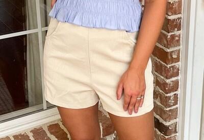 Snake Leather Shorts