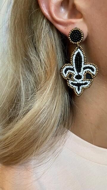 MC Designs Beaded Saints Earrings