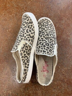 Jellypop Vibes Leopard Canvas Slip On