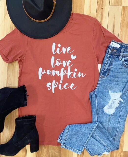 Live, Love, Pumpkin Spice, Rust