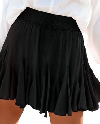 Mini Pleated Skirt, Black