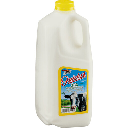 Milk 2%, half gallon