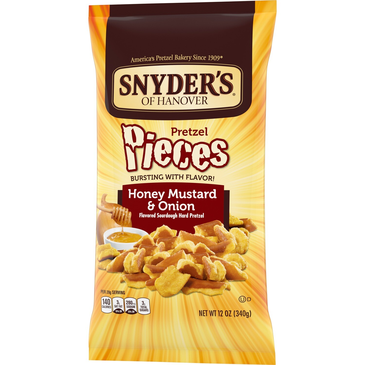 Snyder's of Hanover Honey Mustard Onion Pretzel Pieces (12 oz bag)