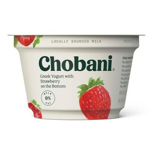 Chobani Greek Strawberry Yogurt (5.3 oz cup)