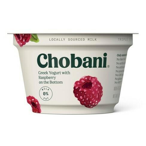 Chobani Greek Raspberry Yogurt (5.3 oz cup)