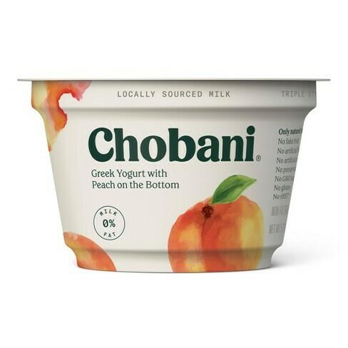 Chobani Greek Peach Yogurt (5.3 oz cup)