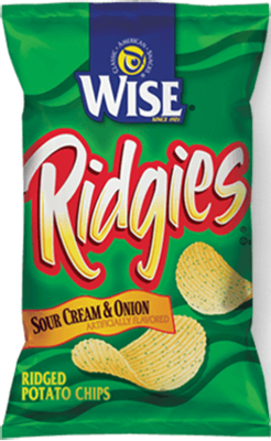 Wise Sour Cream & Onion Ridgies Potato Chips (8.25 oz)