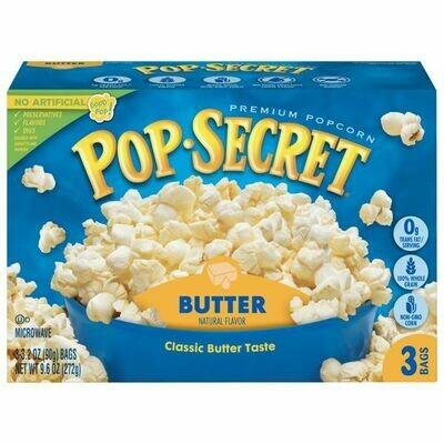 Pop-Secret Microwave Popcorn, butter (3ct box)