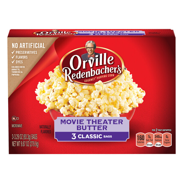 Orville Redenbacher's Microwave Popcorn Classic Bag Movie Theater Butter (3 ct)