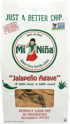 Mi Nina Jalapeno Agave Tortilla Chip, 12 oz