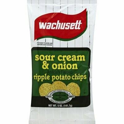 Wachusett Potato Chips Sour Cream & Onion (5 oz bag)